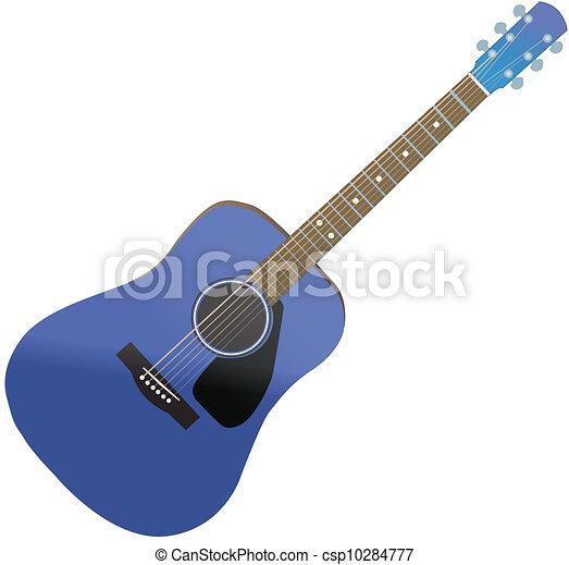 蓝色, 吉他素材插图 - 搜索eps剪贴画,图形和矢量图形