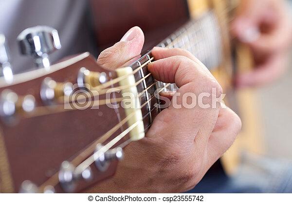 吉他, 關閉 - csp23555742