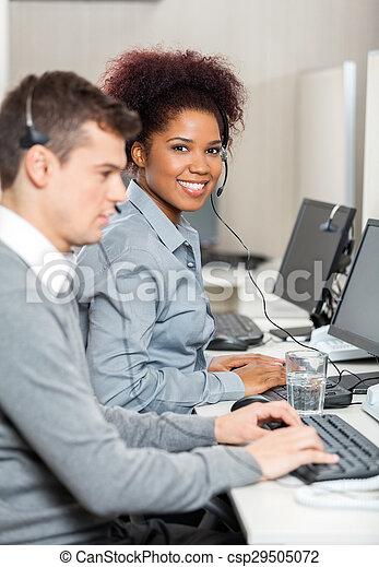 同僚, オフィス, 仕事, 若い, 従業員, マレ - csp29505072