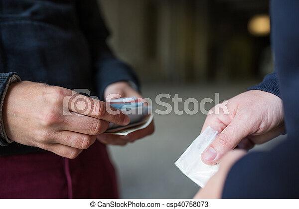 向上, 藥物, 劑量, 迷戀者, 關閉, 經銷商, 購買 - csp40758073
