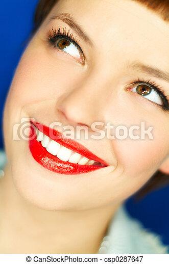 唇, 赤 - csp0287647