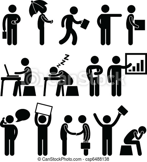 商业财政, 办公室, 工作场所矢量