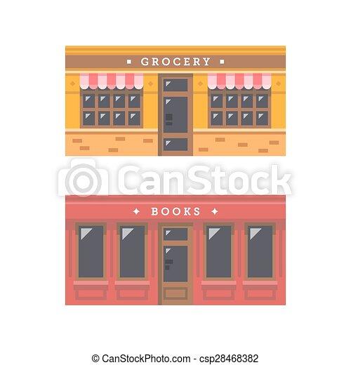 商店前面, 正面, 設計, 套間 - csp28468382
