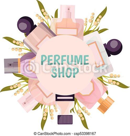 商店, 框架, 背景, 香水 - csp53398167
