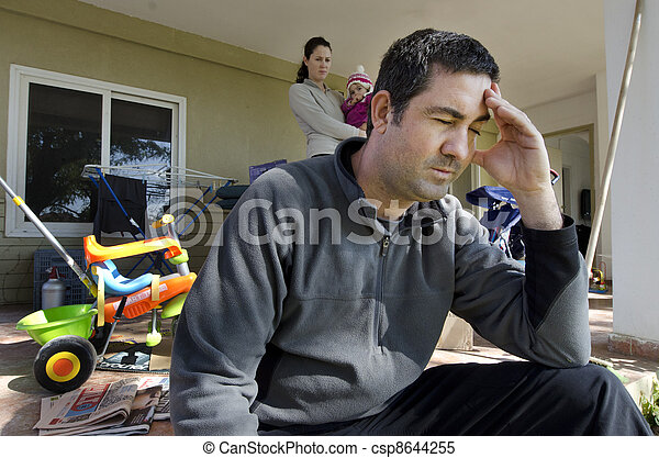 問題, -, 家族, ホームレスである - csp8644255