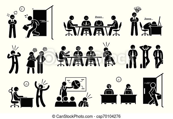 問題, 怠け者である, 無用である, workplace., 網, millennials, 社会 - csp70104276