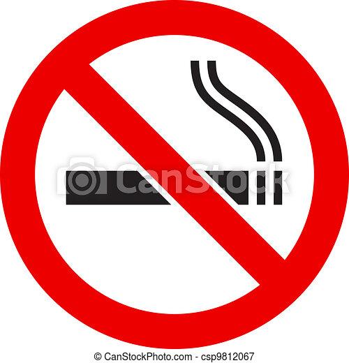 喫煙のサイン, いいえ - csp9812067
