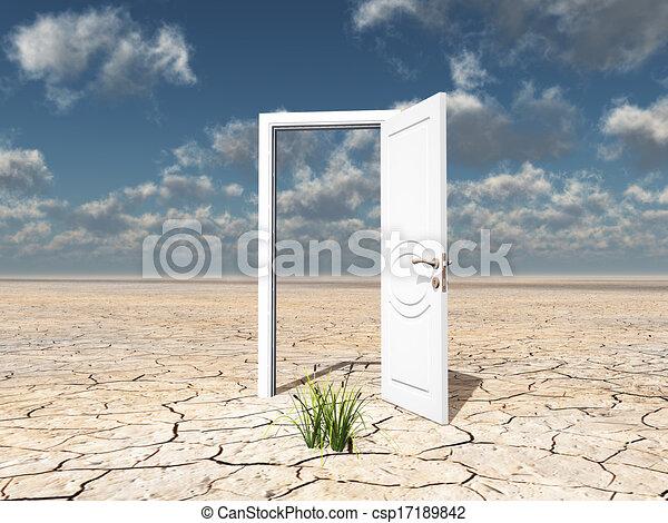 單個, 門, 白色 - csp17189842