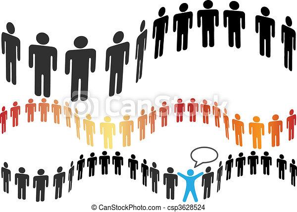 团体, 人们, 符号, 瓦片, 线, 水平 - csp3628524