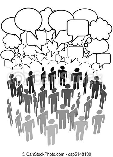 团体, 网络, 人们, 媒介, 公司, 社会, 谈话 - csp5148130
