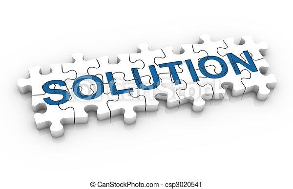困惑, ジグソーパズル, 単語, 解決 - csp3020541