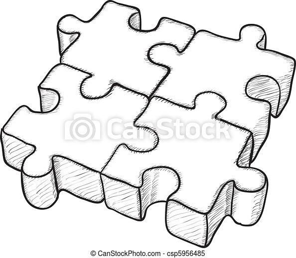 困惑, ベクトル, -, 図画, 形づくられた - csp5956485