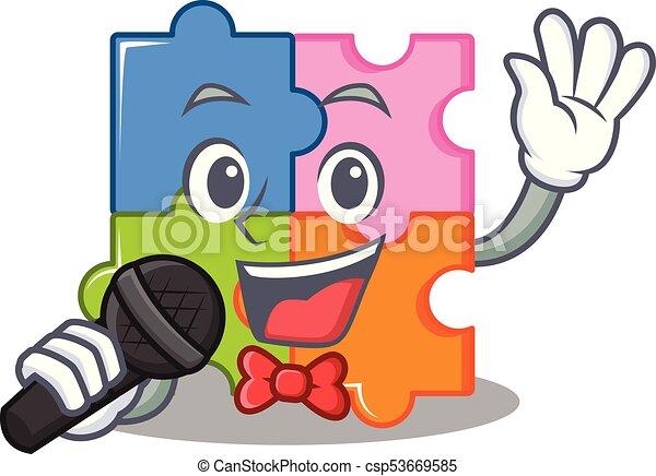 困惑, マスコット, 歌うこと, スタイル, 漫画 - csp53669585
