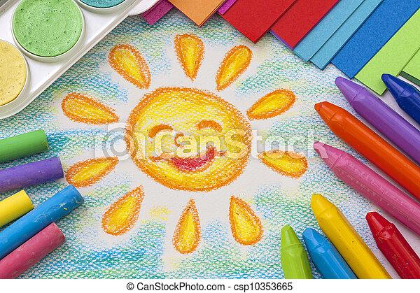 図画, 子供 - csp10353665