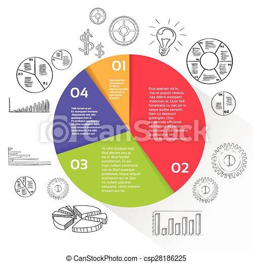 図, 金融, ビジネス, 財政, パイ, 円, infographic - csp28186225