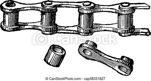 固体, 型, 鎖, リンク, engraving. - csp38331827