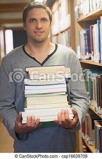 图书馆管理员, 浅黑型, 形成, 漂亮 - csp16639709
