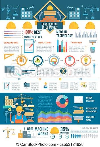 图表, 建设, infographic, 图表 - csp53124928