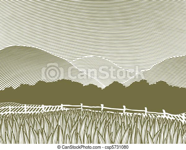 國家, 場景, 木刻 - csp5731080