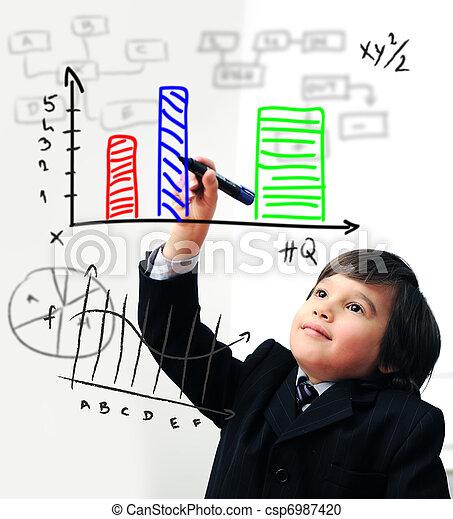 圖形, 屏幕, 數字, 圖畫, 孩子 - csp6987420