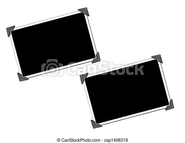 圖片, 空白, 相片, 角落 - csp1498319