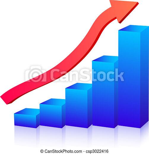圖表, 成長, 事務 - csp3022416