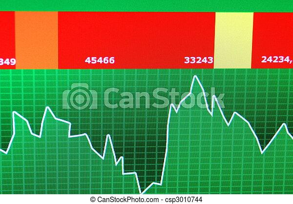圖表, 股票 - csp3010744