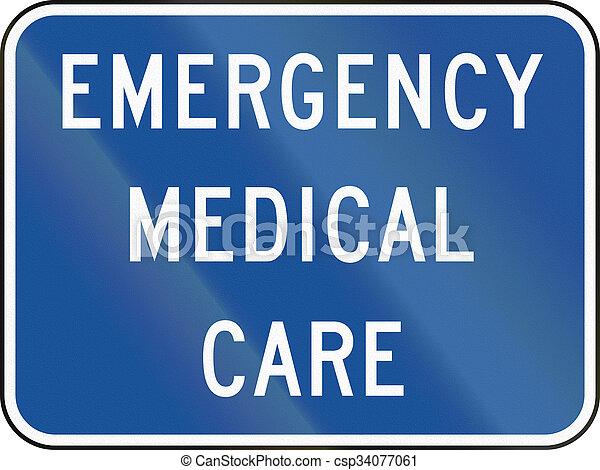 團結, 緊急事件, 醫學, -, mutcd, 簽署, 國家, 路, 關心 - csp34077061