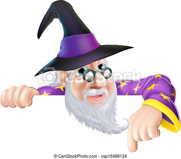 在上方, 巫術師, 偷看, 簽署 - csp15498134