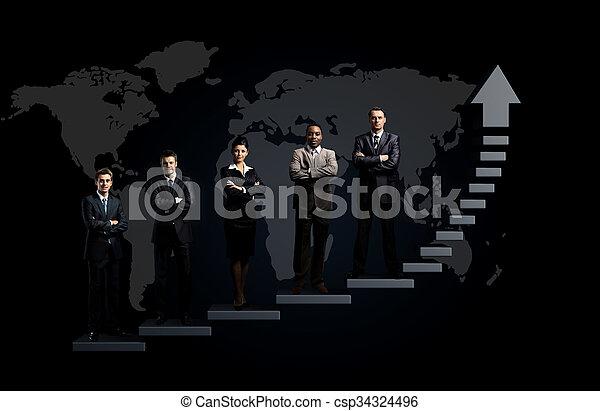 地位, ビジネス チーム - csp34324496