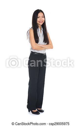 地位, レース, 女, 中国語, ビジネス, 隔離された, バックグラウンド。, suit., フルである, モード, 女性, 混ぜられた, 長さ, 白, 美しい - csp29005975