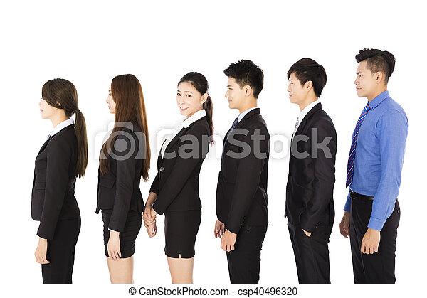 地位, 横列, グループ, ビジネス 人々 - csp40496320