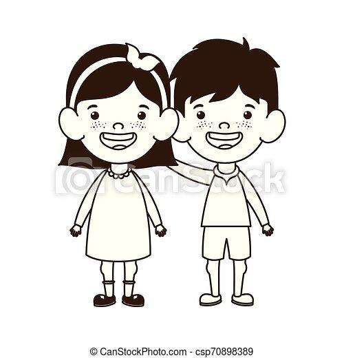 地位, 赤ん坊, 恋人, シルエット, 微笑 - csp70898389