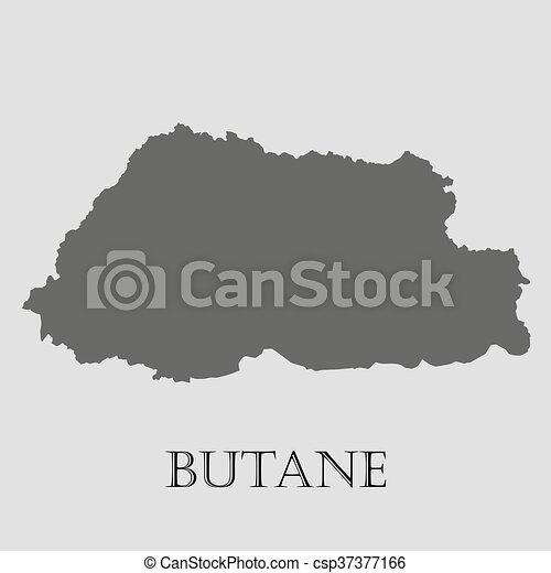 地図, -, イラスト, ベクトル, 黒, ブタン - csp37377166