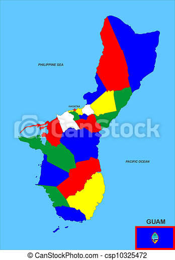地図, グアム