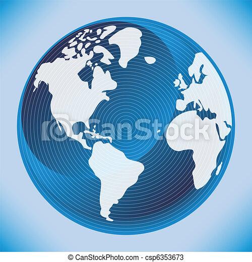 地図, デジタル世界, design. - csp6353673