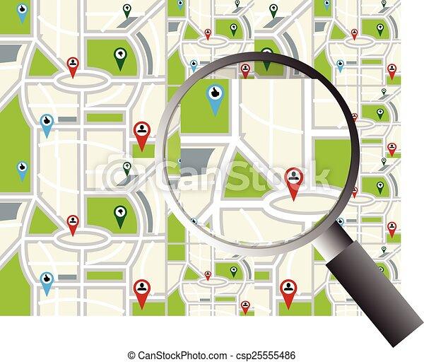 地図, ナビゲーション - csp25555486