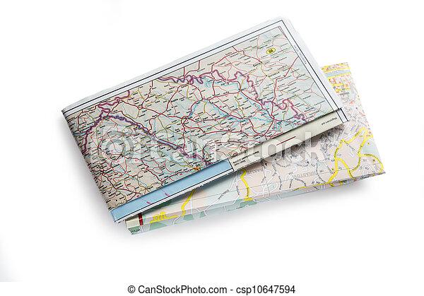 地図, バルカン半島, 道, 2012 - csp10647594