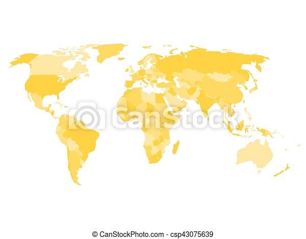 地図 国 依存した より大きい 主権 領土 名前 世界 地図 Yelow