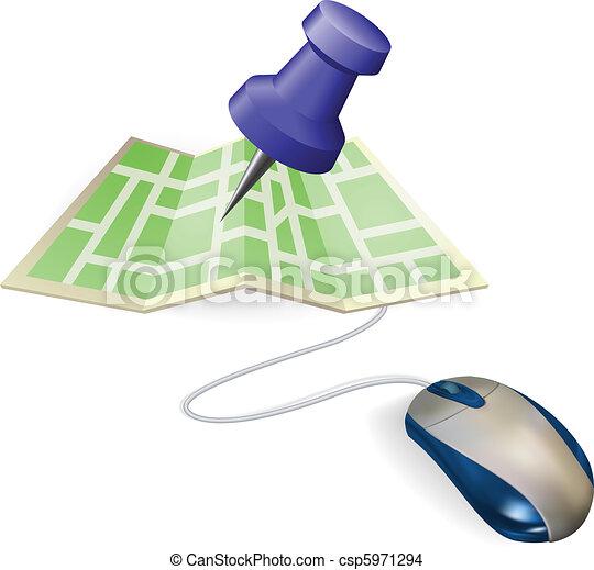 地図, 概念, マウス - csp5971294