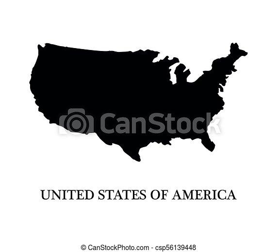 地図, 米国 - csp56139448