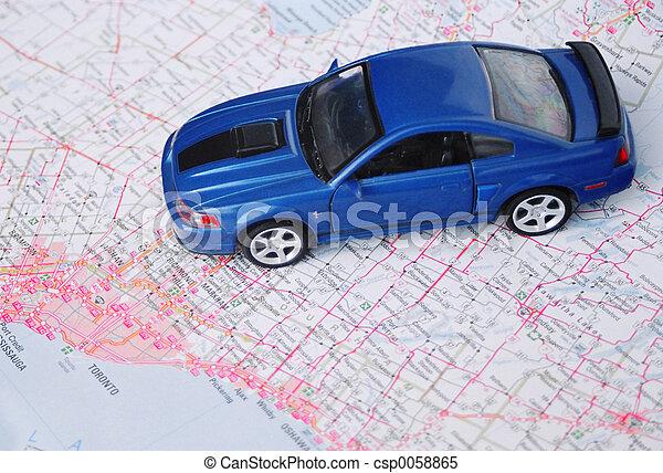 地図, 道 - csp0058865