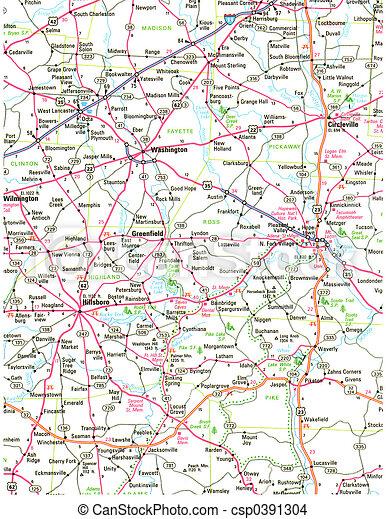 地図, 道 - csp0391304
