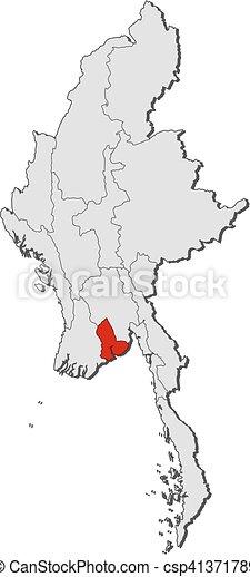 地図 Yangon ミャンマー