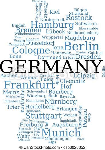 地圖, 德國 - csp8028852