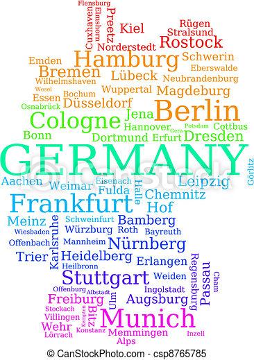 地圖, 德國 - csp8765785