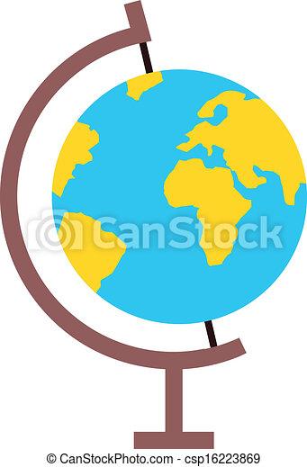 地球の 地球, ベクトル, アイコン - csp16223869