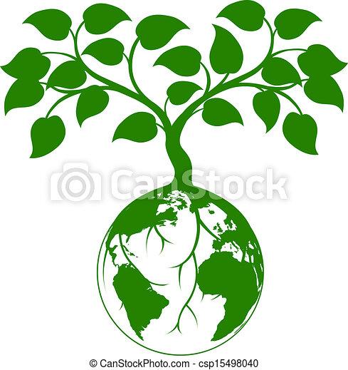 地球, グラフィック, 木 - csp15498040