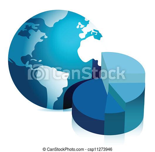 地球, パイ, イラスト, チャート - csp11273946