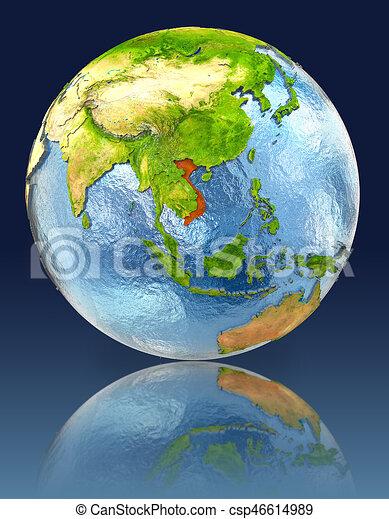 地球 ベトナム 反射 詳しい 要素 供給される 反射 地球